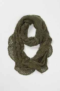 Anthropologie Fritillary Ruffle Loop in either moss or pink