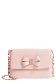 3c7e8f4b192770 Ted Baker London - Bowii Bow Mini Bark Leather Crossbody Bag is now 49% off