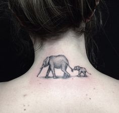 Elephant Tattoo in Black and Grey