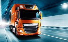 Scarica sfondi DAF CF, Euro 6, 2017, trasporto per mezzo di Autocarri, veicoli nuovi, consegna camion, DAF