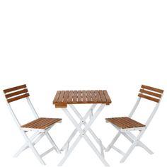 Das Morning-Star Balkon-Set lädt Sie bei schönen Wetter dazu ein, Platz zu nehmen und den Tag bei einer Tasse Kaffee zu begrüßen. In Weiß und Hellbraun, klassisch im Look, zierlich in den Abmessungen und praktischerweise faltbar.