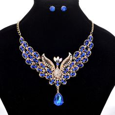 Cheap Elegant Peacock Womens Jewelry Set Luxury Colorful Rhinestone Bird Animal Clavicle Necklaces Earring is worth buying, shop best Elegant Peacock Womens Jewelry Set Luxury Colorful Rhinestone Bird Animal Clavicle Necklaces Earring online. Women's Jewelry Sets, Bird Jewelry, Cute Jewelry, Women Jewelry, Fashion Jewelry, Jewelry Design, Jewelry Party, Bohemian Jewelry, Jewelry Accessories
