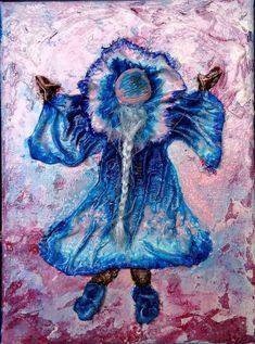 Méret: 18 X 24 cm. Little Girls, 3d, Studio, Night, Artwork, Blue, Painting, Toddler Girls, Work Of Art