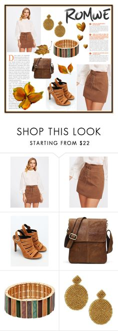 """""""Rewind to Fall (Romwe)"""" by swishswish ❤ liked on Polyvore featuring Kendall + Kylie and Kenneth Jay Lane"""