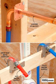 PEX pipe is the biggest revolution in plumbing since the flush toilet, and in this article we'll answer the most common questions homeowners have about it, PEX supply and also give you some tips for working with it. Pex Plumbing, Bathroom Plumbing, Kitchen Sink Faucets, Plumbing Fixtures, Basement Bathroom, Bathroom Fixtures, Plumbing Drains, Hall Bathroom, Plumbing Installation