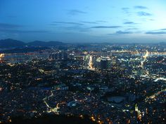 Seoul night photo from Seoul Tower