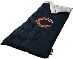 NFL Chicago Bears Sleeping Bag Team Color Slumber Bag Camping Outdoor NEW #Coleman