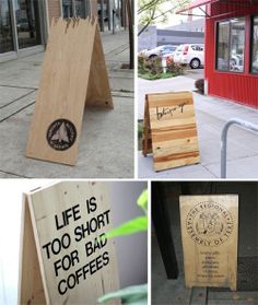 A-Board signage coffee joe shop signage, retail signs и reta Shop Signage, Wayfinding Signage, Signage Design, Cafe Design, Floor Signage, Sandwich Board Signs, Deco Restaurant, Restaurant Trends, Signs