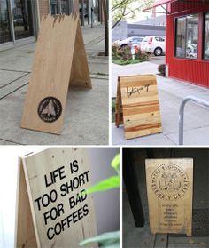 a-board signage