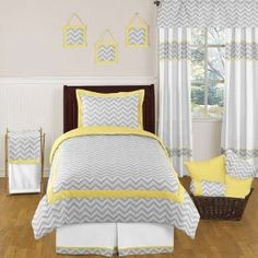 Yellow and Gray Zig Zag Childrens and Kids Bedding 4pc Twin Set by JoJO Designs :           The 4pc Zig Zag twin bedding collection by JoJO Designs will add instant zest to your bedroom. This stylish twin bedding set uses a sensational collection of JoJO Designs exclusive 100% Cotton fabrics. It boasts a modern gray and white Zig Zag print combined with yellow an...  **Read more Details : http://gethotprice.com/appin/?t=B007UQ6J8O