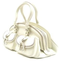 Christian Dior Ivory Detective Bag