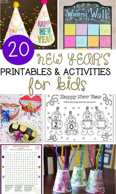 These 20 New Year's activities for kids are great for the classroom or home, and so much fun for younger kids to ring in the new year!