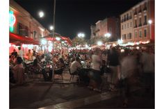 The market in Nice at night