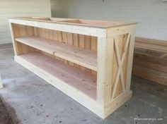 build a farmhouse style planked x tv console or sideboard @Remodelaholic (25)