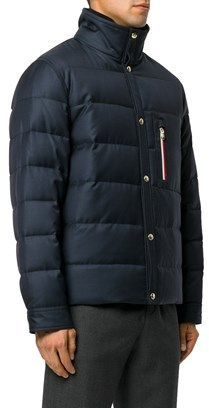 Moncler Men's Blue Wool Down Jacket.