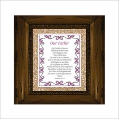 The Lord's Prayer - Our Father... Scripture Verse Digital File Bible Verse Art Christian Typography Calligraphy Royal Purple Blackberry by LoveLineSigns on Etsy