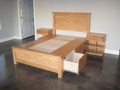 Farmhouse Bed and Argie Bedside Tables - Free Plans