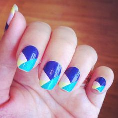 50 off DUUET nail art diy nail stickers COLOUR by DouxCraft Simple Nail Designs, Cute Nail Art Designs, Nail Designs 2014, Short Nail Designs, Color Block Nails, Colour Block, Easy Nail Art, Nail Art Diy, Creative Nails