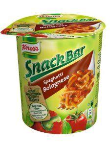 Knorr Snack Bar Spaghetti Bolognese, 8er Pack (8 x 66 g) - http://handygrocery.org/grocery-gourmet-food/knorr-snack-bar-spaghetti-bolognese-8er-pack-8-x-66-g-de/