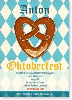 "Oktoberfest-Einladungskarte - ""Brezel"""