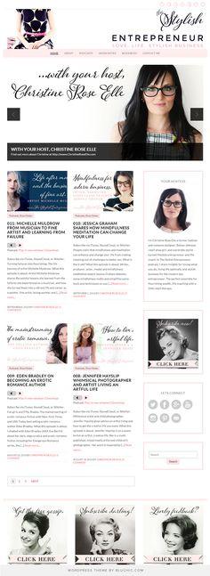 Blog design for The Stylish Entrepreneur. Running on Isabelle feminine WordPress Theme.