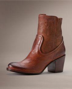 Frye Women's Lucinda Scrunch Short Boot - Cognac
