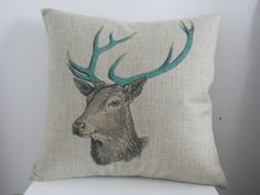 Pillow Cases Standard Size, CaseShell® Deer Pattern Cotton Linen Square Throw Pillow Case Decorative Cushion Cover Pillowcase Pillowslip for Sofa 18x18 inch * Get more discounts! Click the pin : Free Home and Kitchen