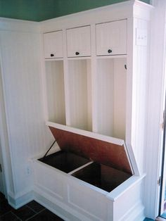 Mudroom Storage. This, plus closed lockers instead of these open ones.