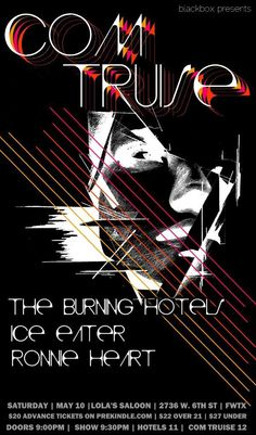 May 10 @ Lola's Saloon - Blackbox presents Com Truise | The Burning Hotels | Ice Eater | Ronnie Heart