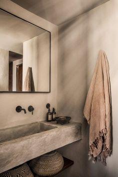 Casa Cook Kos on Behance Boho Bathroom, Bathroom Trends, Bathroom Faucets, Small Bathroom, Warm Bathroom, Bathroom Interior Design, Home Interior, Casa Cook Hotel, Greece Design