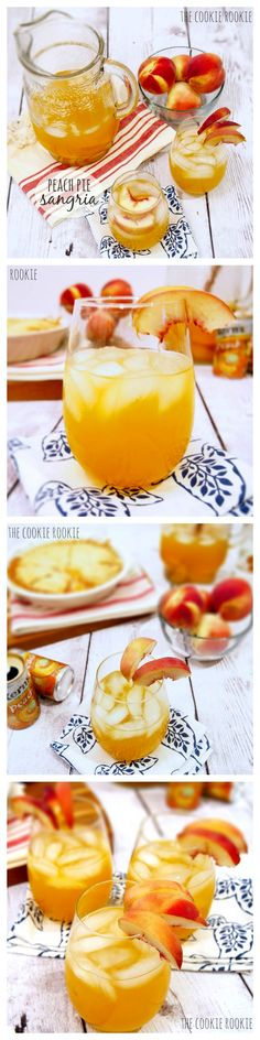 Peach Pie Sangria, perfect cocktail for Spring! {The Cookie Rookie}