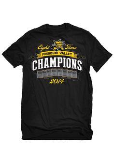 Wichita State (WSU) Shockers T-Shirt - Black WSU 8 Time Short Sleeve Tee http://www.rallyhouse.com/college/wichita-state-shockers/a/mens/b/clothing/c/t-shirts/d/short-sleeve?utm_source=pinterest&utm_medium=social&utm_campaign=Pinterest-WSUShockers $19.99