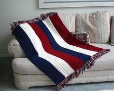 (4) Name: 'Crocheting : Patriotic Childs Crochet Afghan