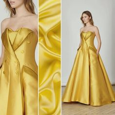 Loving this suit-emulating gown from Alexis Mabille's new collection! Are you going to be making anything like this in the future? Try a silk crepe back satin, item #PV8000-133 on moodfabrics.com!  #fabric #fabricshopping #moodfabrics #mood #fashion #instafashion #lovetosew #sewing #fashiondesign #fall #autumn #winter #inspiration #trends #colorful #color #colors #highfashion #eveningwear #formal #gown #luxury #garmentdistrict #designer #runway #alexismabille #style