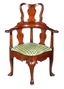 Chair, Corner, Mahogany, English, c.1740