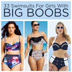 33 Bangin' Swimsuits For Girls With Big Boobs FINALLY! #fullcoverage #bathingsuits
