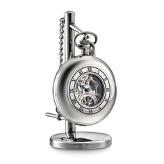 Skeletal Pocket Watch & Stand by Dalvey