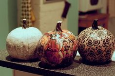 decoupage Fall Crafts, Holiday Crafts, Holiday Fun, Home Crafts, Diy Crafts, Holiday Decor, Festive, Halloween Fun, Halloween Pumpkins