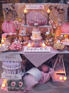 40 trendy fall birthday party for girls Fall First Birthday, Pumpkin First Birthday, 1st Birthday Party For Girls, Girl Birthday Themes, Birthday Ideas, Fall Birthday Decorations, Birthday Candy Bar, Shabby Chic Birthday Party Ideas, Boho Themed Party