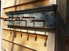 Railroad spike coat rack by ivegotahammer on Etsy, $75.00