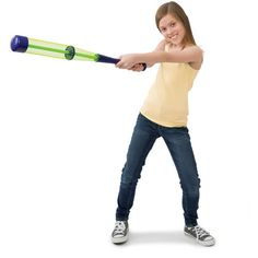 Crush-It Bat combines the lightweight power of a tennis racquet and the fun of baseball to make for some BIG home run fun! Adjust the tension and swing for the fences, a fun way to enjoy active play outside. http://www.mastermindtoys.com/Tucker-Crush-It-Baseball-Bat-with-Ball.aspx