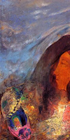 Poet's Dream, oil on canvas, Private Collection,  Symbolism, Odilon Redon (1840-1916).