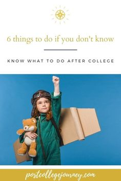 Want to know what to do if you don't know what to do after college? Here are six steps to take to define a career.