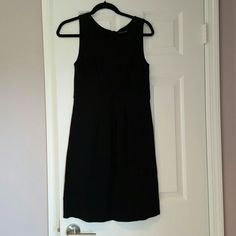 GUC, Cute black dress, perfect for work Very cute black dress with folds in the front (pic 2) perfect for work! Good condition. This was pre-loved it a great dress! Martin + OSA Dresses Midi