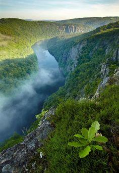 Paysage de la Tchéquie - Vallée de la rivière Vltava