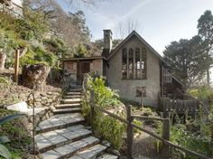 Bernard Maybeck's family home — Enchanting 1932 time capsule storybook cottage, Berkeley, Calif. Retro Renovation.