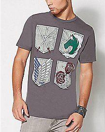 Shield Attack on Titan T Shirt