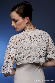 Bridal Bolero Wedding Shrug White by dront on Etsy