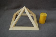 Small Folding Wooden Pyramid by Powerofwood on Etsy