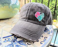 Live Love Teach Autism Cowboy Hat Dad Hats Beach Denim Cap for Mens Womens